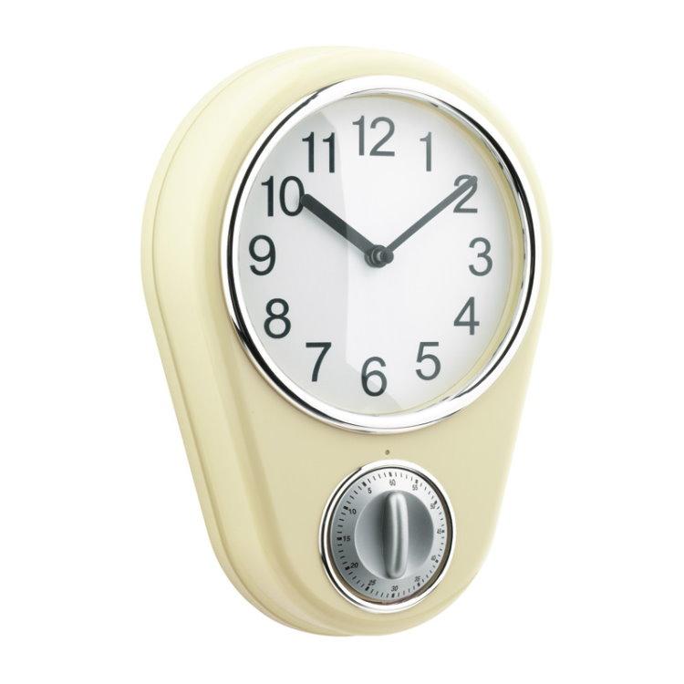 maxx cuisine k chenuhr retro timer uhr wanduhr eieruhr clock wanduhren uhren ebay. Black Bedroom Furniture Sets. Home Design Ideas