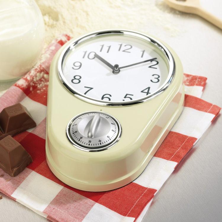 Maxx Cuisine Küchenuhr Retro + Timer Uhr Wanduhr Eieruhr Clock ...