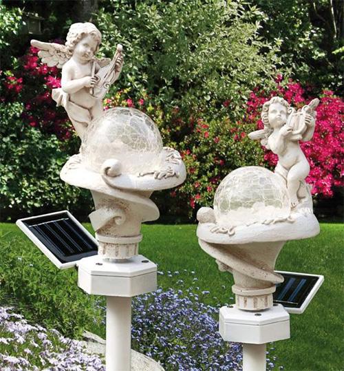 2er set solarleuchte engel solarlampe solar garten lampe leuchte aussenleuchte ebay. Black Bedroom Furniture Sets. Home Design Ideas