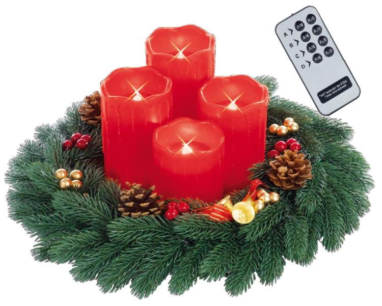 Christ-Maxx-Adventskranz-Fernbedienung-LED-Echtwachskerzen-Weihnachten-Kranz