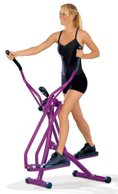 nordic walker walking crosstrainer de luxe stepper airwalker lila ebay. Black Bedroom Furniture Sets. Home Design Ideas
