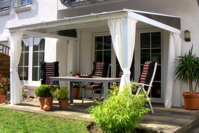 4x seitenteile in weiss f r leco terrassen berdachung. Black Bedroom Furniture Sets. Home Design Ideas