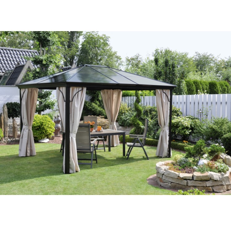 profi pavillon festzelt partyzelt leco garten terrasse seitenteile 3 x 3 65m ebay. Black Bedroom Furniture Sets. Home Design Ideas