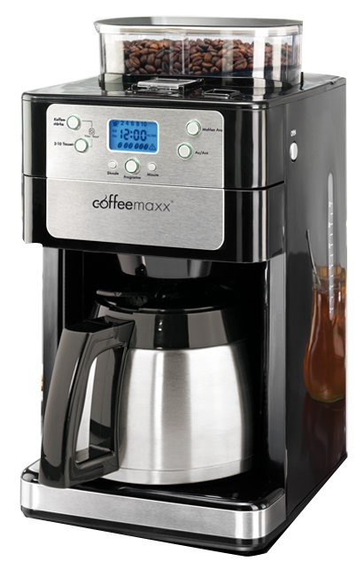 coffee maxx premium thermo plus kaffeemaschine 10 tassen mahlwerk kaffee automat ebay. Black Bedroom Furniture Sets. Home Design Ideas