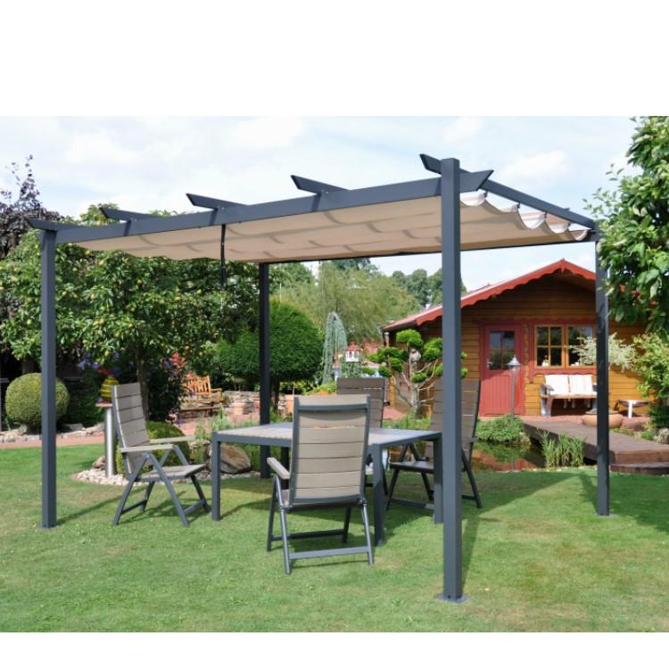 pergola pavillon windschutz leco sonnenschutz garten