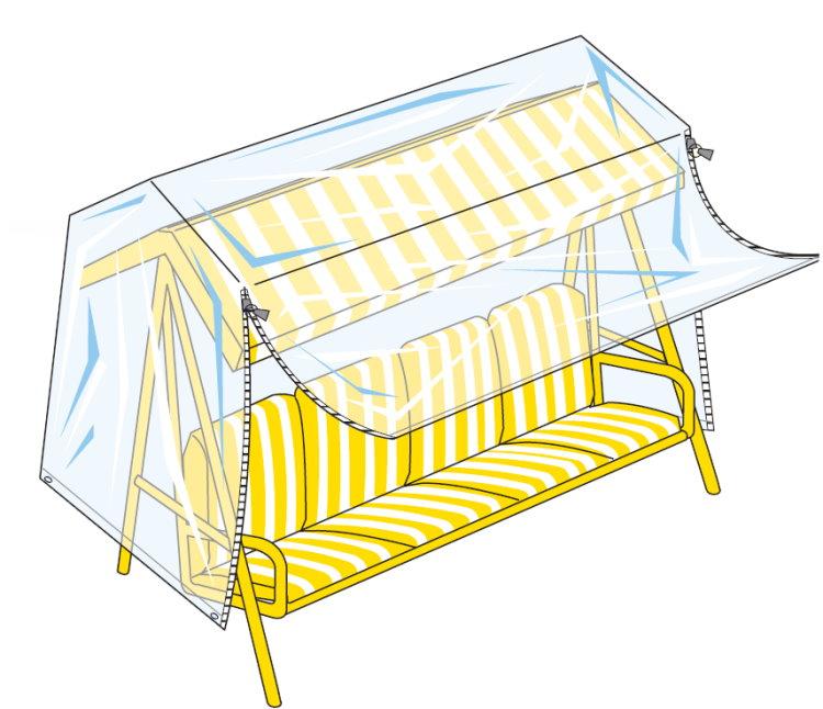 landmann hollywoodschaukel schutzh lle h lle 220cm abdeckhaube schutz plane ebay. Black Bedroom Furniture Sets. Home Design Ideas