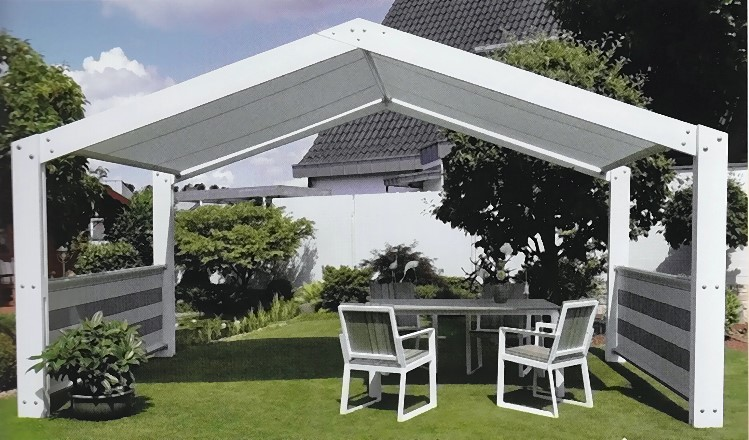 leco metall pavillon sommer residenz 5x3m markise. Black Bedroom Furniture Sets. Home Design Ideas