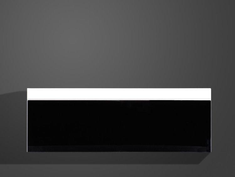germania h ngeschrank freestyle glas wandschrank wohnzimmer schrank wei schwarz ebay. Black Bedroom Furniture Sets. Home Design Ideas