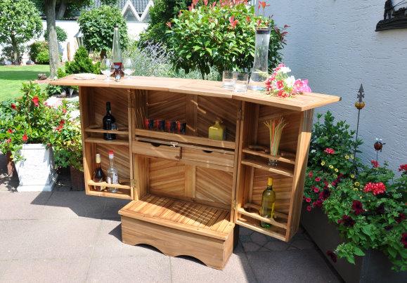 leco stilvolle hausbar exquisit hartholz gartenm bel bar. Black Bedroom Furniture Sets. Home Design Ideas