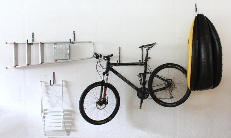 6tlg haken set wandhaken leiterhaken fahrradhalterung. Black Bedroom Furniture Sets. Home Design Ideas
