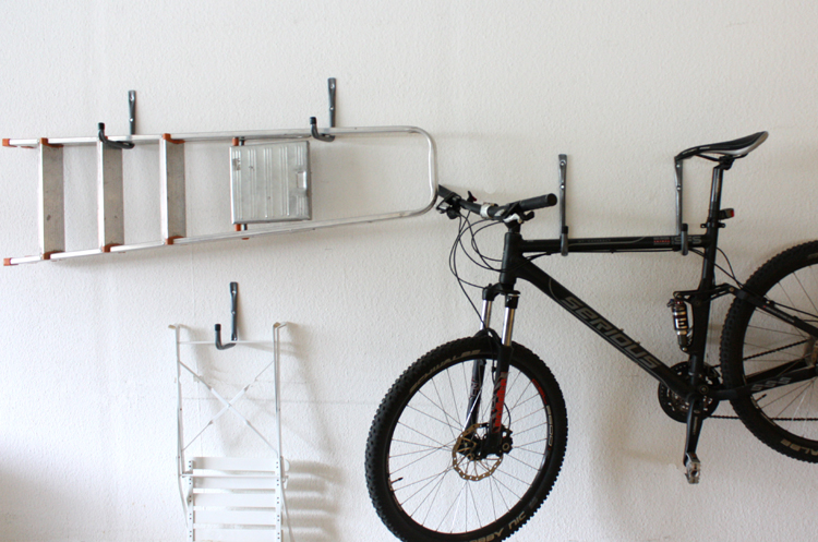 6tlg haken set wandhaken leiterhaken fahrradhalterung ebay. Black Bedroom Furniture Sets. Home Design Ideas