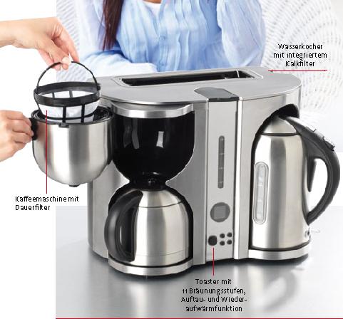 edelstahl gourmet maxx fr hst ckscenter deluxe toaster wasserkoch kaffeemaschine ebay. Black Bedroom Furniture Sets. Home Design Ideas