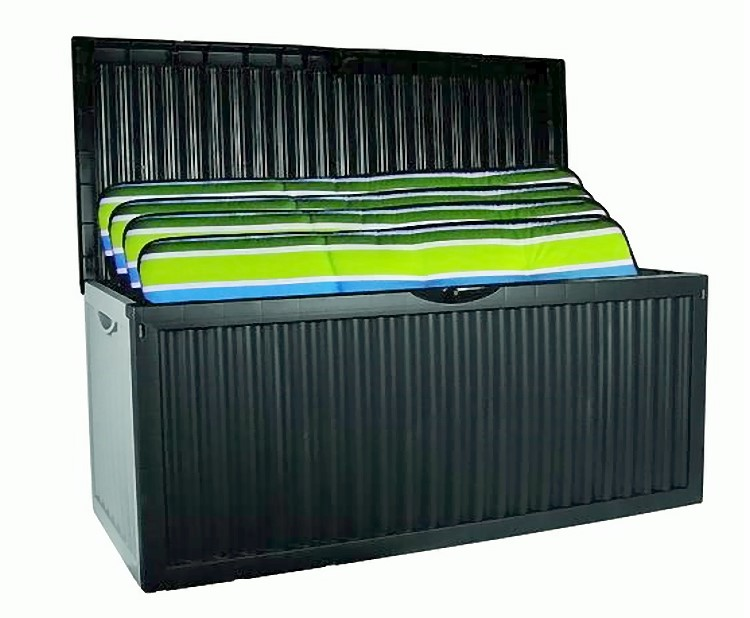 xl auflagenbox wave 350l gartenbox gartentruhe auflagen kissenbox gartentruhe ebay. Black Bedroom Furniture Sets. Home Design Ideas