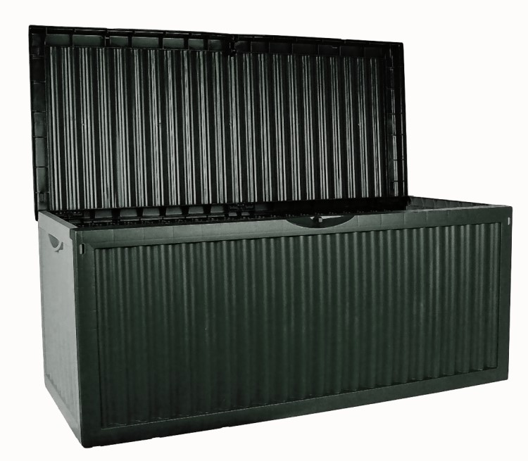 xl rollen auflagenbox 350l gartenbox gartentruhe auflagen kissenbox gartenm bel ebay. Black Bedroom Furniture Sets. Home Design Ideas