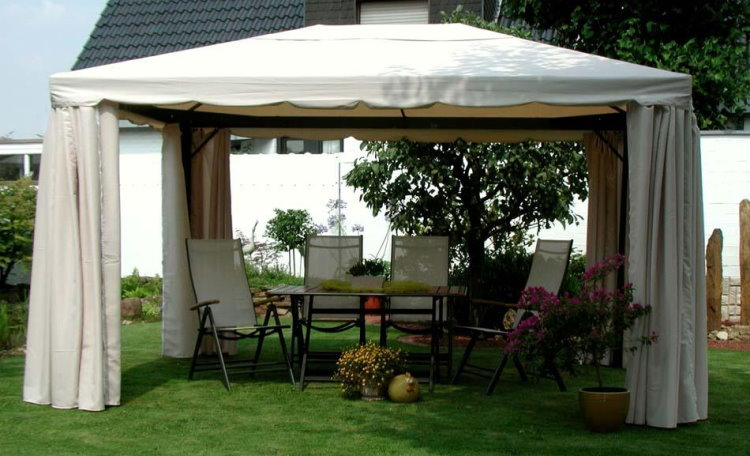 leco luxus garten pavillon sahara inkl seitenteile festzelt partyzelt 3x4m neu ebay. Black Bedroom Furniture Sets. Home Design Ideas