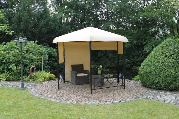 leco 6 eck pavillon rollos garten zelt festzelt. Black Bedroom Furniture Sets. Home Design Ideas