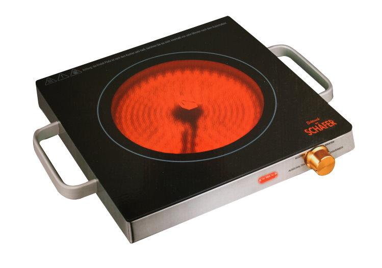 sch fer infrarot glas keramik kochplatte elektro camping. Black Bedroom Furniture Sets. Home Design Ideas