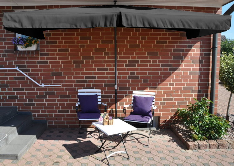 leco klemmschirm sonnenschirm 3x1 5 sonnenschutz garten. Black Bedroom Furniture Sets. Home Design Ideas
