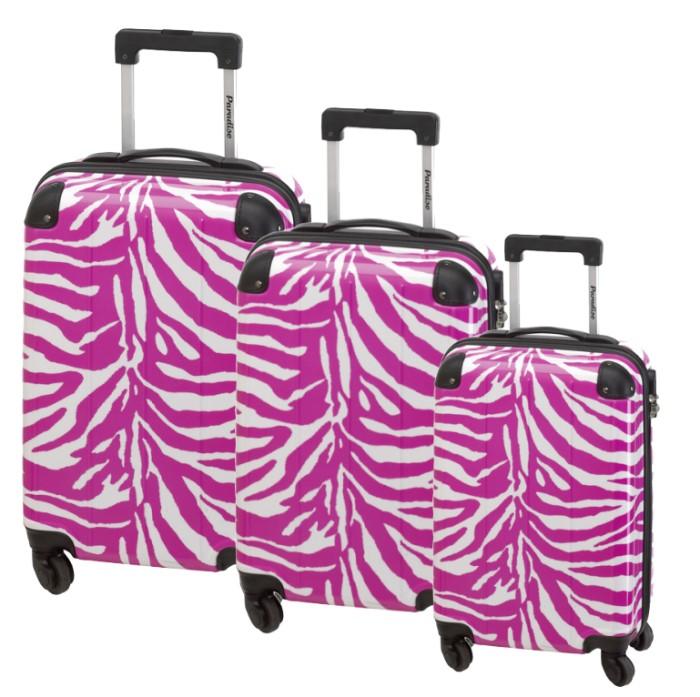3tlg trolley koffer set paradise 4 rollen hartschale. Black Bedroom Furniture Sets. Home Design Ideas