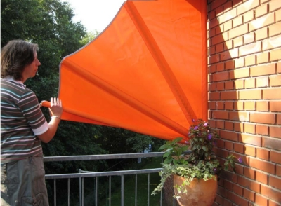 leco balkon f cher sichtschutz schutzh lle in orange. Black Bedroom Furniture Sets. Home Design Ideas