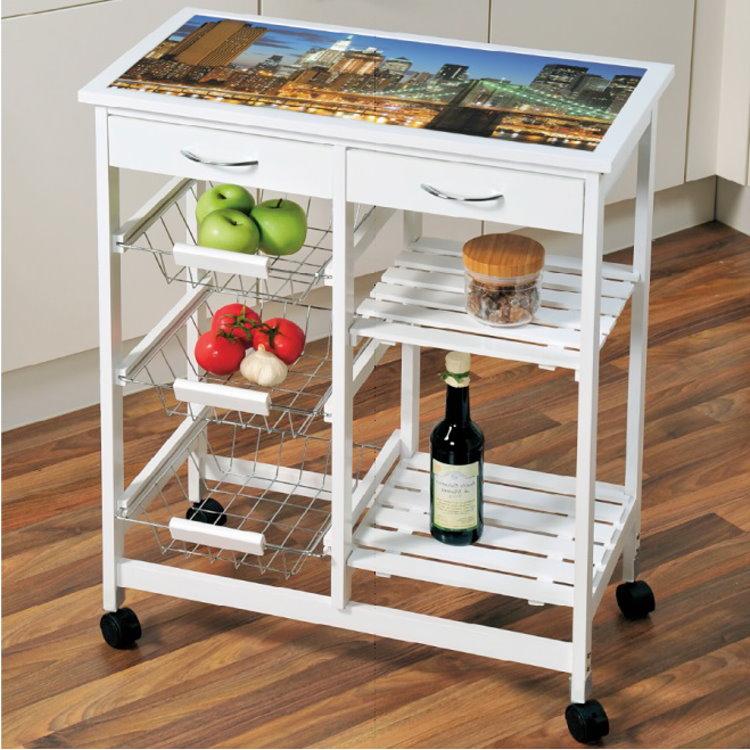 Kesper Holz Küchenwagen New York Küche Tisch Rollwagen Wagen ... | {Küchenwagen kesper 54}