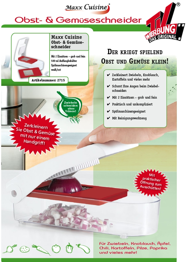 Maxx cuisine design obst und gem seschneider for Decoration chambre hindou