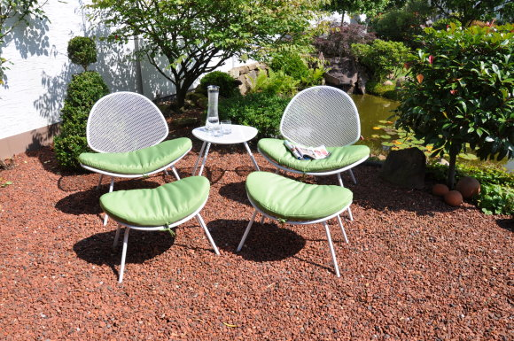 leco retro design sitzgruppe garten tisch stuhl hocker gartenstuhl metall weiss ebay. Black Bedroom Furniture Sets. Home Design Ideas