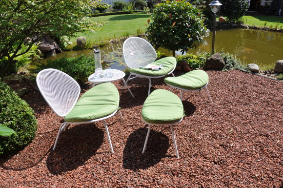 leco design sitzgruppe garten tisch stuhl hocker gartenstuhl metall weiss ebay. Black Bedroom Furniture Sets. Home Design Ideas