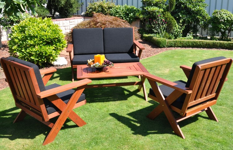 Gartenmobel Outlet Salzburg :  Sitzgruppe GartenmöbelSet Garten Terrasse Holz TREND 7tlg  eBay