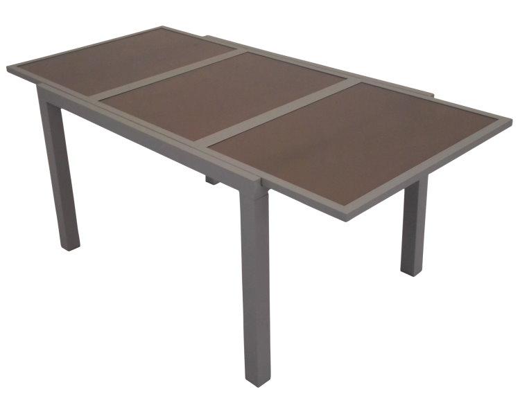 leco alu ausziehtisch 120 240cm garten tisch gartentisch. Black Bedroom Furniture Sets. Home Design Ideas
