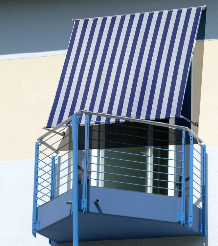 fallarmmarkise markise sonnenschutz balkon 150x200 blau. Black Bedroom Furniture Sets. Home Design Ideas