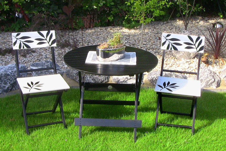 3tlg leco premium garten sitzgruppe tischgruppe balkon set tisch stuhl st hle ebay. Black Bedroom Furniture Sets. Home Design Ideas