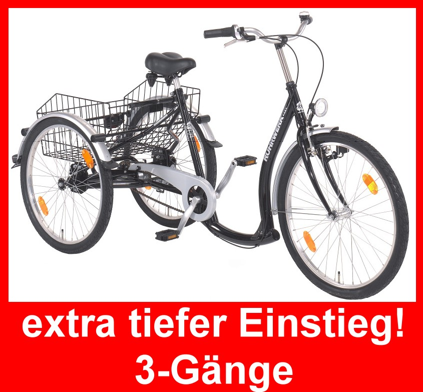 ruhrwerk dreirad f erwachsene 26 transportrad fahrrad. Black Bedroom Furniture Sets. Home Design Ideas