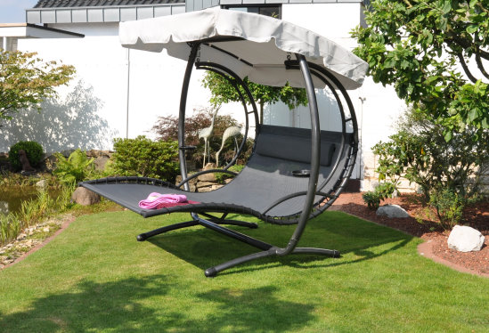 Leco duo liege swing xxl sonnenliege gartenm bel hollywood for Balancelle jardin leclerc