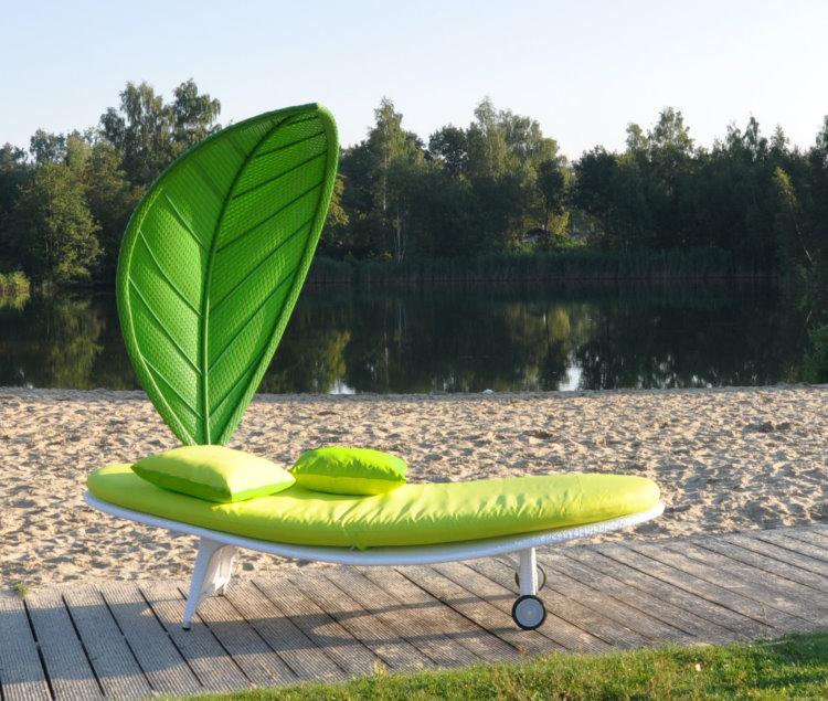 Gartenmobel Holz Nachhaltig : Leco surf rattan sonnenliege lounge gartenliege gartenmbel liege grn