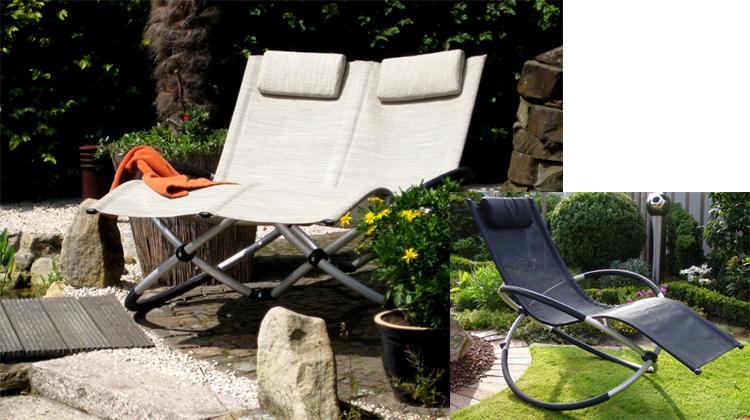 Design leco luxus doppelliege schaukelstuhl duo liege gartenliege stuhl schwarz ebay - Gartenliege duo ...