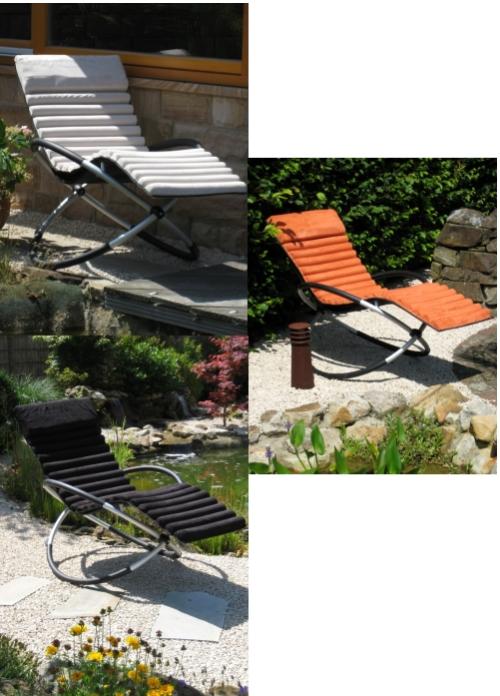 Leco schaukelstuhlkissen stuhlkissen auflage schaukelstuhl for Design schaukelstuhl garten