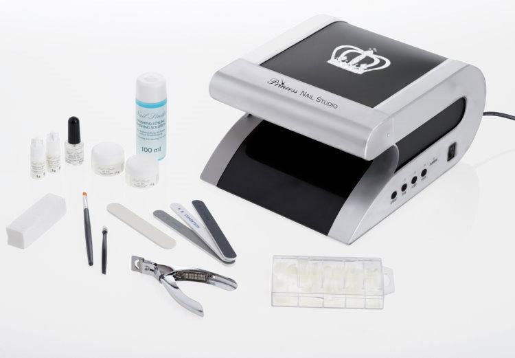123tlg profi manik re set princess nail studio gel modellage uv lampe neu ebay. Black Bedroom Furniture Sets. Home Design Ideas
