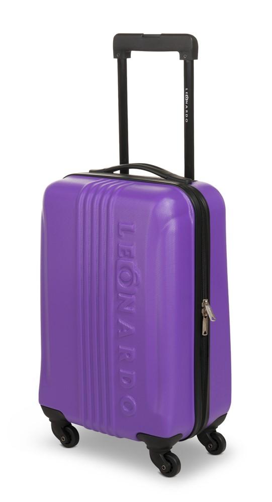 31l leonardo koffer reisekoffer handgep ck trolley koffer hartschale boardcase ebay. Black Bedroom Furniture Sets. Home Design Ideas