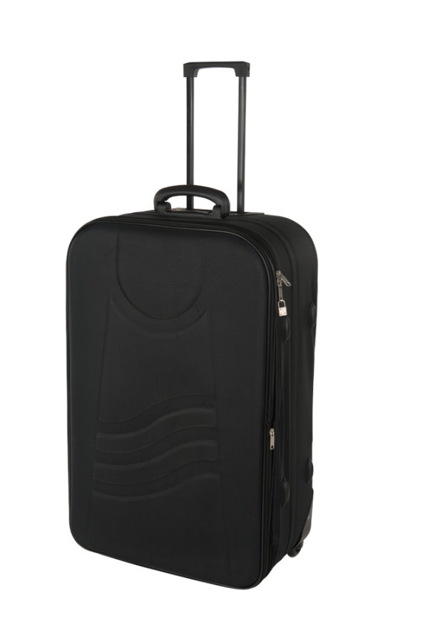 2tlg trolley koffer set reisekoffer bordgep ck reise gep ck 75 l schwarz rot ebay. Black Bedroom Furniture Sets. Home Design Ideas