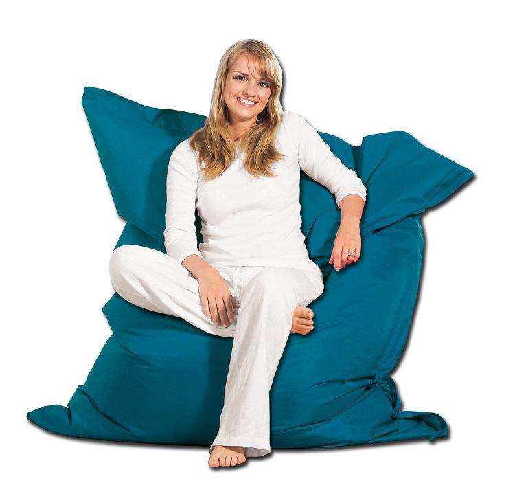 liamare xxl sitzsack 130x160cm petrol sitzkissen. Black Bedroom Furniture Sets. Home Design Ideas