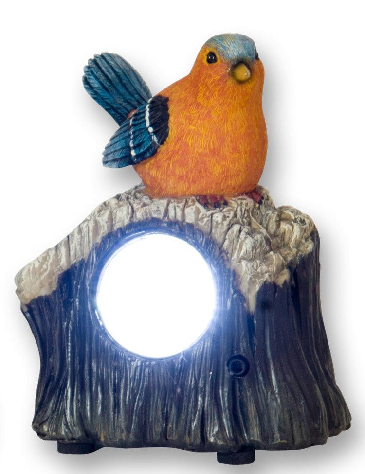 deko vogel solar lampe bewegungsmelder garten led leuchte gartenl ebay. Black Bedroom Furniture Sets. Home Design Ideas
