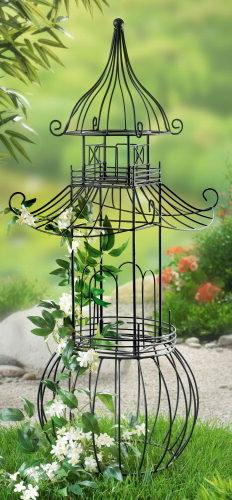 xl rankgitter pagode rankhilfe metall rankstab obelisk rosen spalier neu ebay. Black Bedroom Furniture Sets. Home Design Ideas