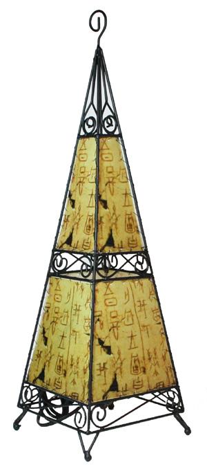 57cm metall stehlampe pyramide afrika bodenlampe stand. Black Bedroom Furniture Sets. Home Design Ideas