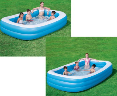 xl bestway family swimming pool familienpool neu ebay. Black Bedroom Furniture Sets. Home Design Ideas