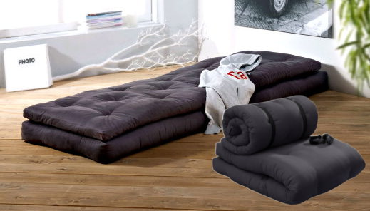 design buckle up futon bett g stebett lounge relax sessel matratze sofa grau ebay. Black Bedroom Furniture Sets. Home Design Ideas