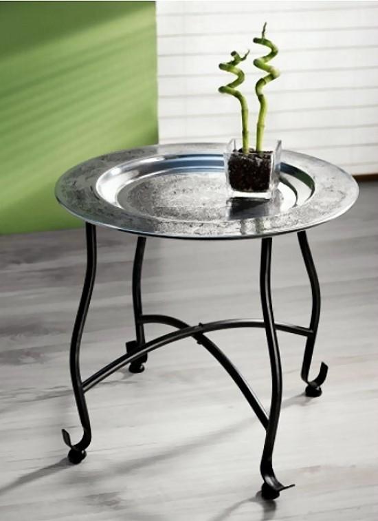 2tlg beistelltisch orient metall tablett 40cm tee tisch for Beistelltisch orient