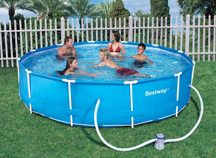 bestway frame swimming pool schwimmbecken pumpe neu kaufen bei. Black Bedroom Furniture Sets. Home Design Ideas