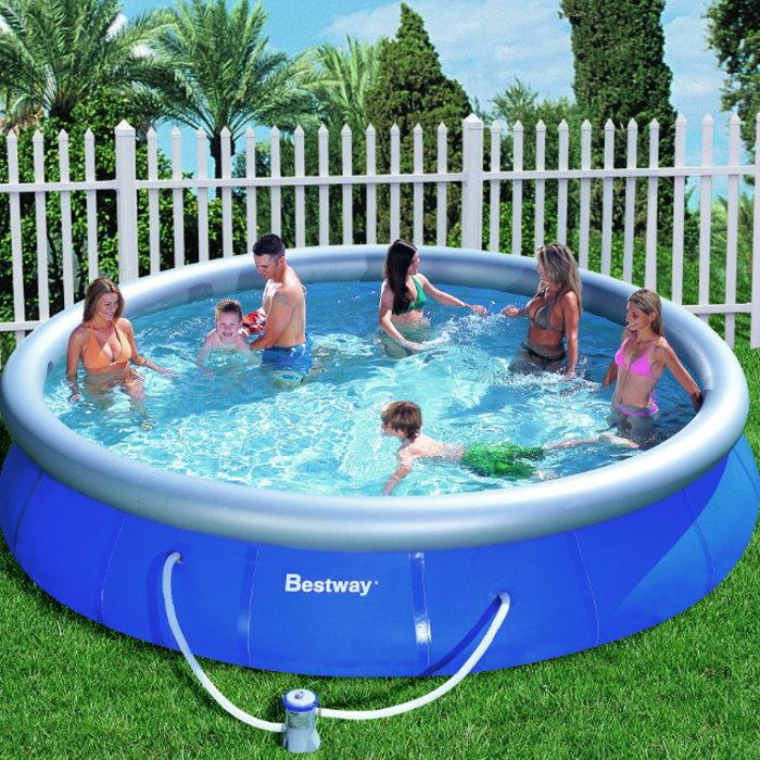 XXL Fast Set Swimming Pool 457x91 inkl. Pumpe + DVD NEU