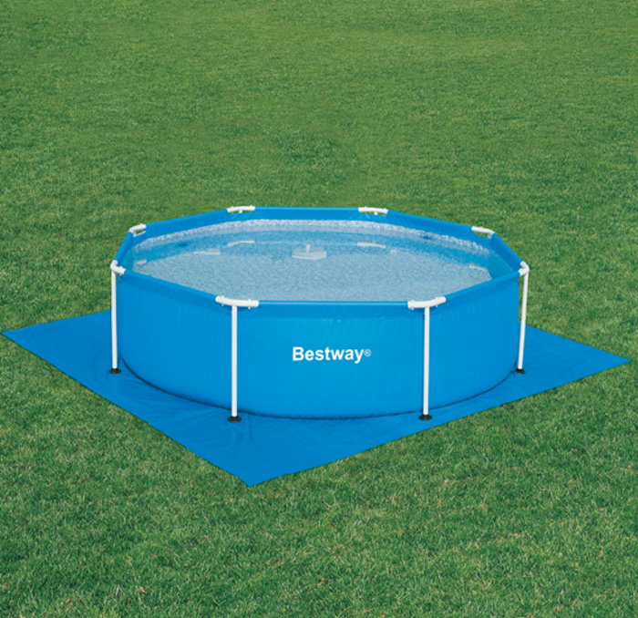Bodenfolie f r pools 488x488 bestway swimmingpool for Swimming pool unterlage